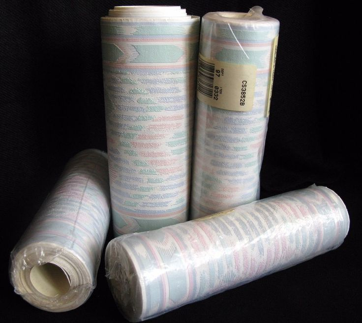 Vintage Pastel Southwestern Wallpaper Border Stripes Mauve C & A Textured 4 Roll #CAWallcoverings
