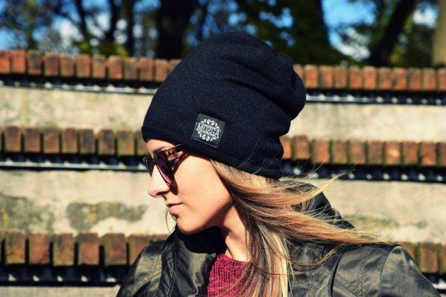 Wełniana czapka - Czarna