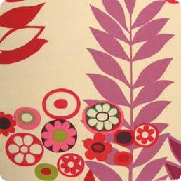 Fabric 'Ojai in Purples and Reds' by Alexander Henry (USA). Our online store sells to Wellington.