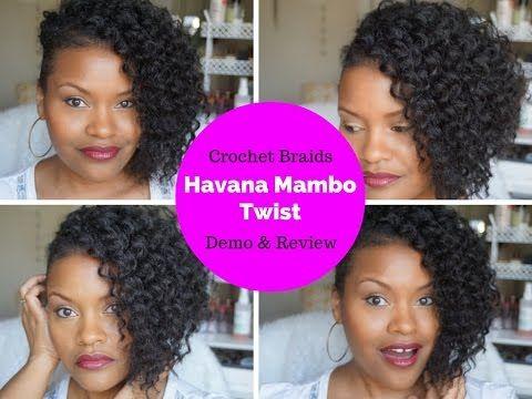HOW TO: CROCHET BRAIDS FAUX HAWK DEMO + Havana Mambo Twist Review - YouTube