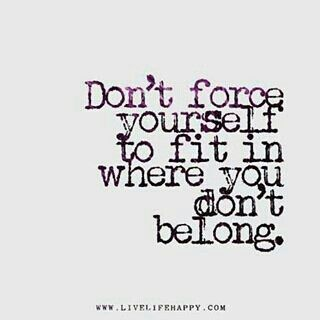 Don't force anything. You weren't made to #fit in, boldly stand out! #TransparenTEEblogs #inspiregrowlove