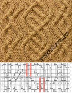 Узор 790 « Кельтский узор 1» | каталог вязаных спицами узоров