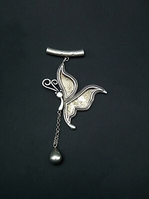 Miao Silver Butterfly Style Pendant