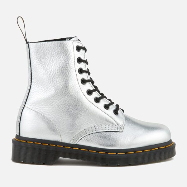 Martens Women's Pascal Metallic Leather Lace Up Boots - Silver We've got  top products at great prices including fashion, homeware and lifestyle  products.