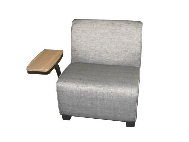 Steelcase Jenny Tablet Arm Lounge Chair with gray pattern fabric