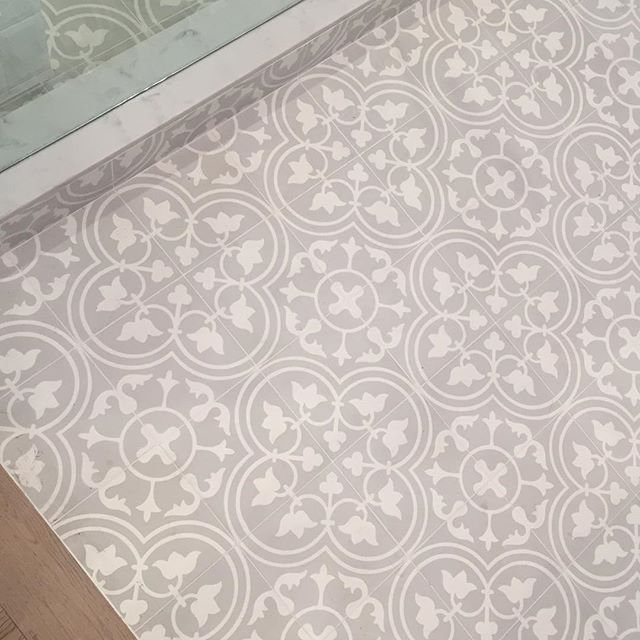 This would be so cute in the laundry room  Cement Tile Shop - Encaustic Cement Tile Bouquet II