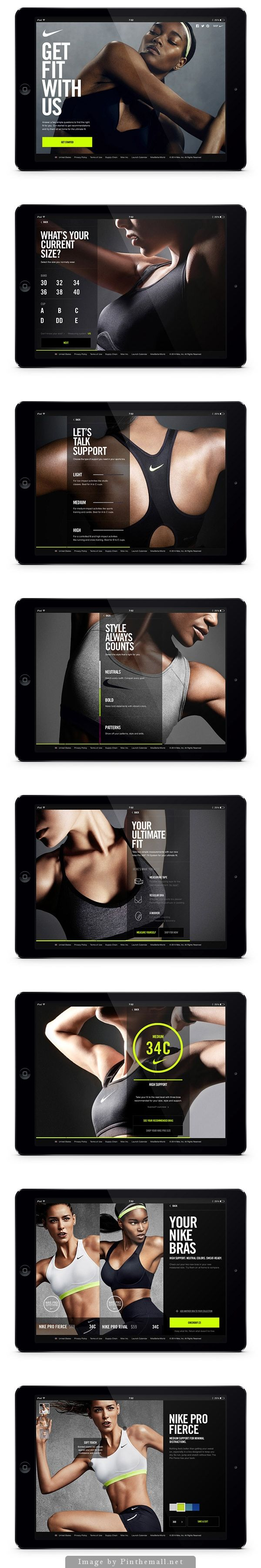 Progress bar moves the whole form. Plus other interesting design patterns #nike #mobile #digital