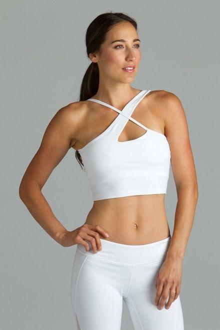 38e508c3d4 White warrior victoria yoga halter crop tops bra