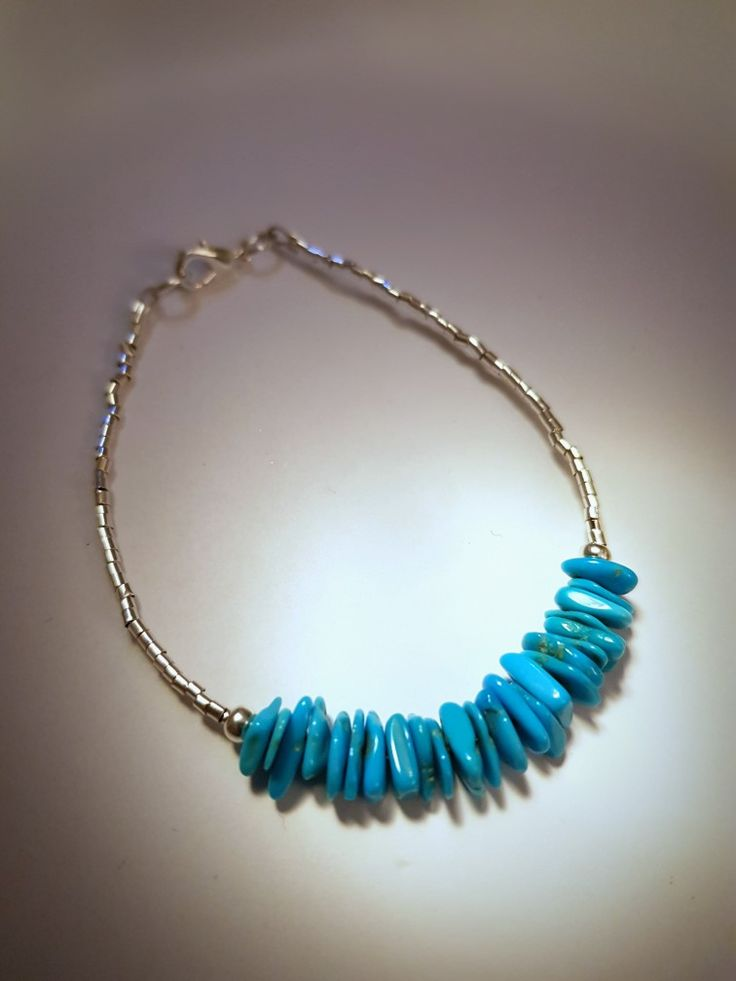 Turquoise and silver summer bracelet