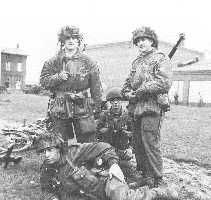 Men of the 1st Canadian Parachute Battalion at Greven, Germany 04 April 1945.