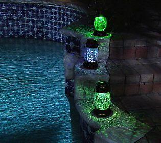Solar Powered Crackled Glass Lantern with Shepherds Hook