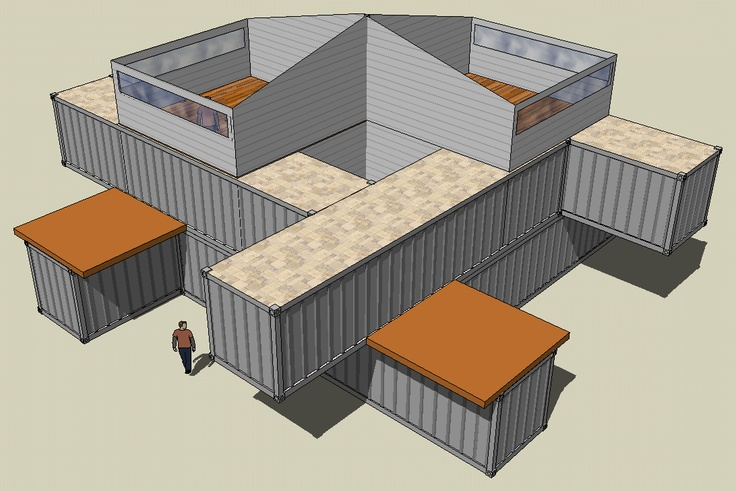 Shipping Container Buildings : 3D CAD, Building Plans, Remodel Drawings,  Geo Referenced