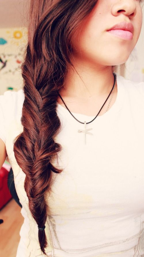 The first lime: DIY inverted braid.  I haven't figured this out yet, but I will!