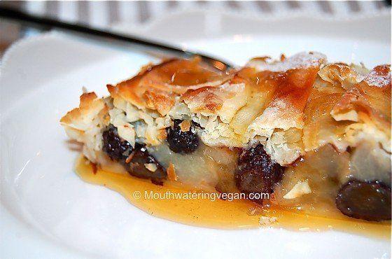 Apple, Pear & Raisin Filo Pie with Maple Syrup