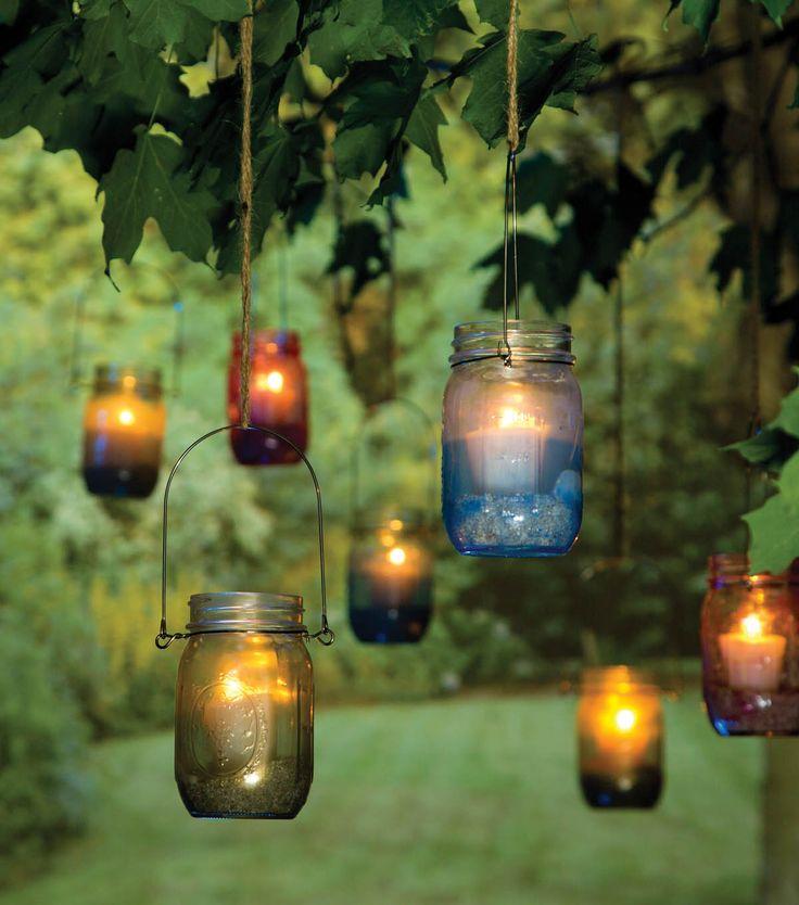How To Make Colorful Jar Lanterns | DIY Outdoor Decor
