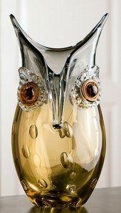 Glas dieren uil Vaas 27 cm