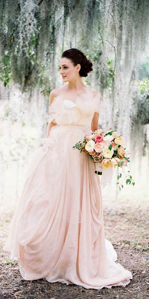 870 best Pink & Blush Wedding Dresses images on Pinterest | Bridal ...
