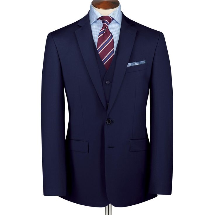 Royal blue Clarendon twill Classic fit business suit | Men's business suits from Charles Tyrwhitt | CTShirts.com