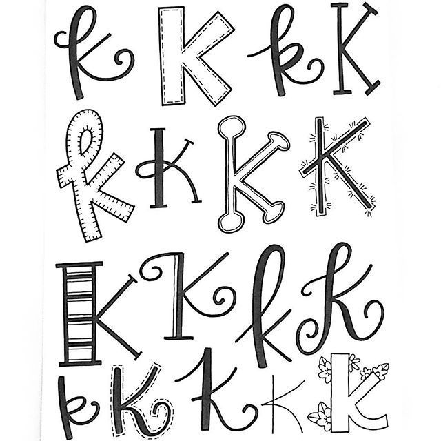 Letter K! | Hand lettered alphabet | Hand lettering ideas for K