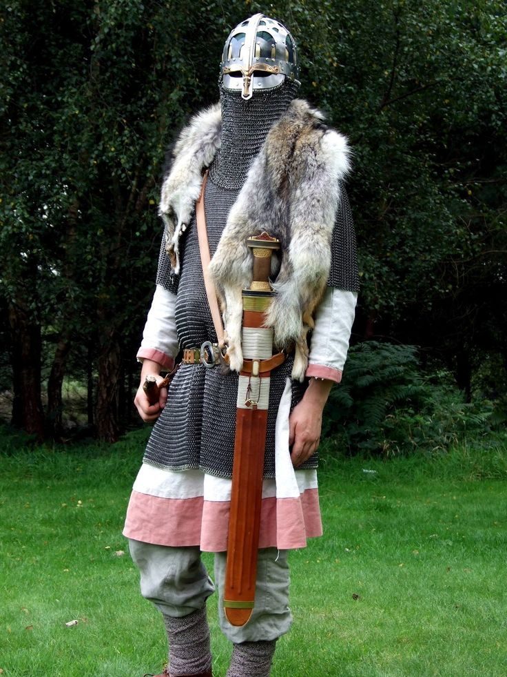 This is what an Anglo-Saxon warrior may have looked like. Understanding their dress can help to understand their culture.