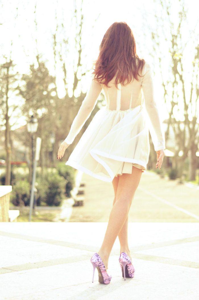 sabrina musco dress heels elegant romantic