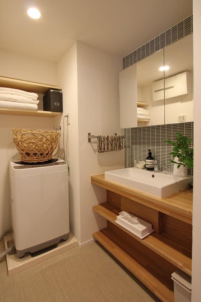 隠す収納が基本!生活感のないスタイリッシュな洗面所の収納 6つのコツ