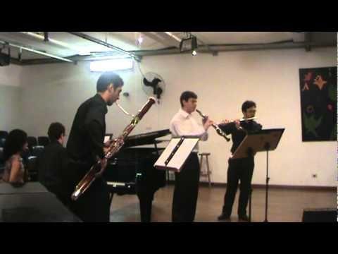 Concerto do dia 12/03/2012 Depto. de Música da ECA/USP Auditório Olivier Toni Rafael Fuchigami - Flauta Ricardo Barbosa - Oboé Marcos Taveira - Fagote Viníci...