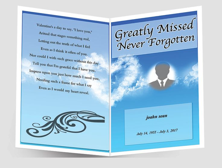 37 best funeral program samples images on Pinterest Christmas - free funeral program template