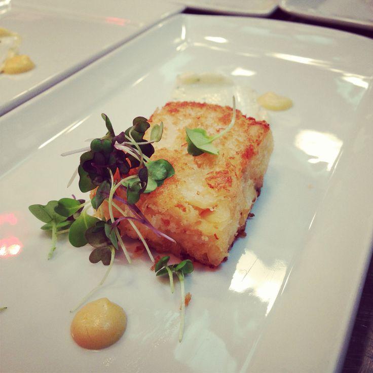 Dungeness Crab Cake, micro lettuce, lemon confit, herb aioli