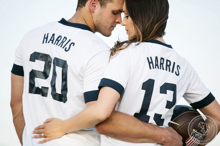 Soccer themed engagement photos by Hampton Morrow Photography