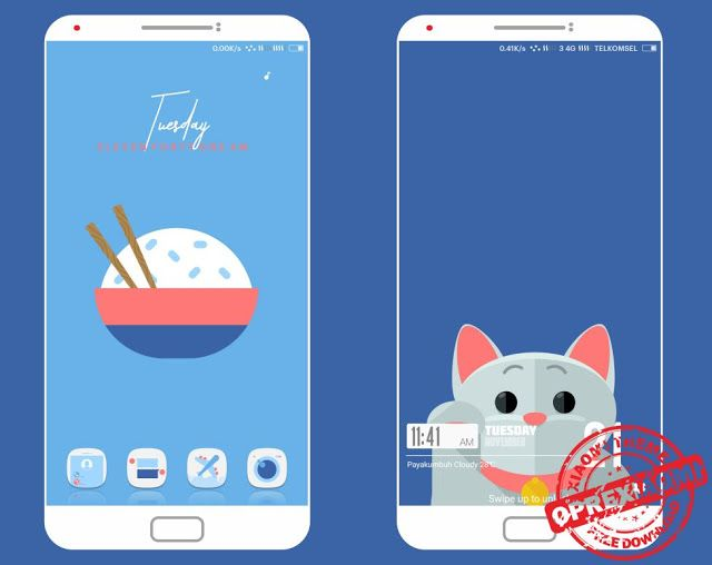 MIUI 9 Theme D T A Mtz Full Tema Flat Dan Unik Untuk Xiaomi Redmi By
