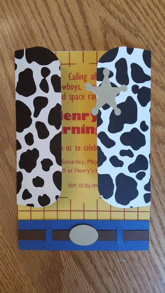 Toy Story Birthday Invitation Woody Birthday por WiseWomanInvites