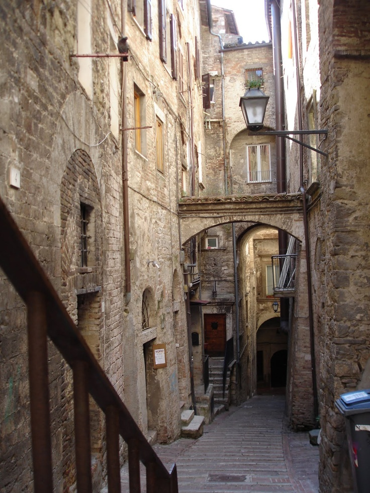 Perugia - Via Deliziosa.  I got to live here! Top floor on the left :-)