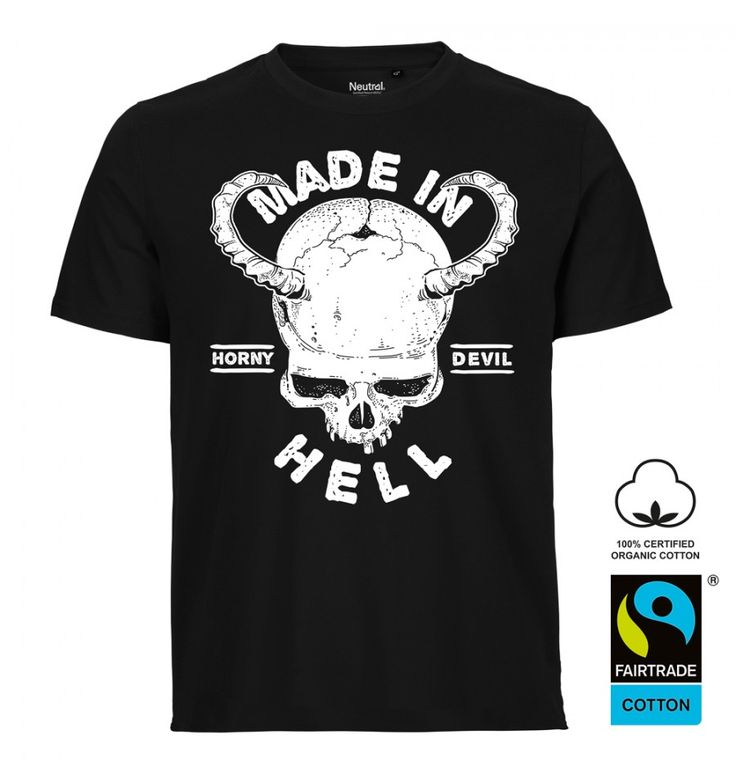 Made in Hell demon skull men's shirt. http://www.the-black-angel.com/gothic-shirts-men/1368-made-in-hell-demon-skull.html