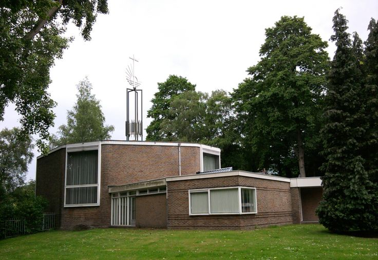 New-Apostolic Church, built in 1958 and designed by Architectural Office Hupkes and Van Asperen. Willem de Rijkelaan 1 Eindhoven, Netherlands. May 21th, 2014