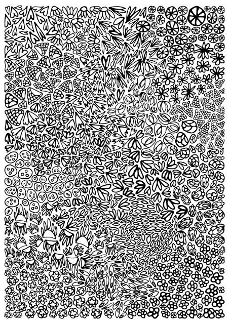 Free coloring page dowland for you #coloringpage #flora #flowers #vector #pattern