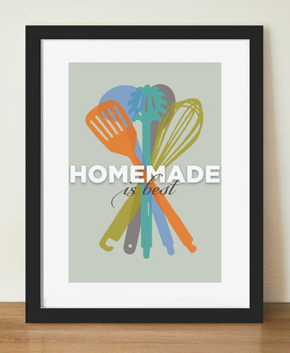 cooking quote mid century kitchen art art for kitchen culinary art colorful kitchen art