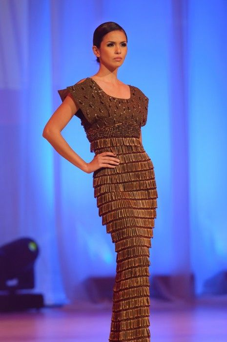 Guess what this gown is made of? As shown on the stage at Fashion Premiere Night at Roy Thomson Hall | Read more http://ramp1885.com/feature-disecting-design-with-john-ablaza-from-manila-the-philippines/