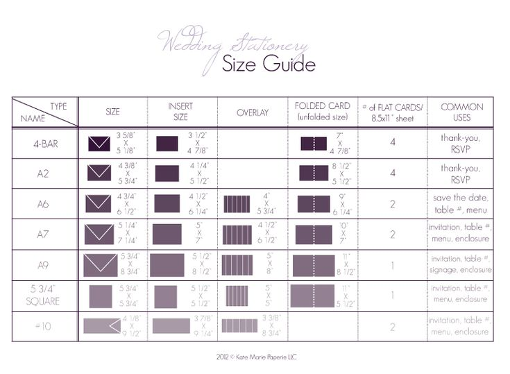 Elegant Paper Wedding: Paper Wedding Primer #1: Stationery Size Guide With FREE  Printable!
