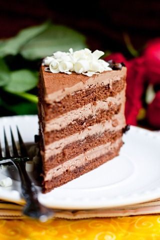 Rich Chocolate Cake with Chocolate Frosting and Apricot Jam