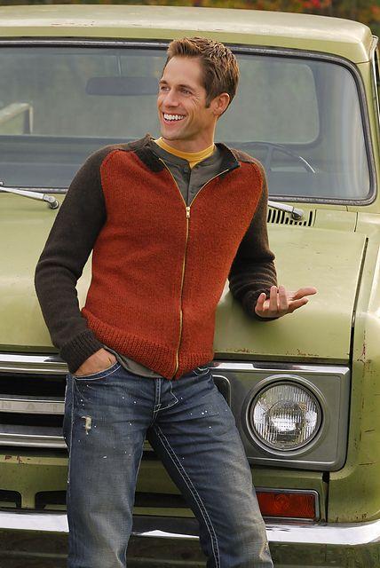 Ravelry: Men's Zip Cardigan pattern by Bobbi Intveld