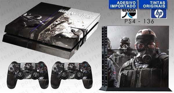 PS4 SKIN - PS4 SKIN - Tom Clancy's Rainbow Six Siege - Pop Arte Skins Adesivos