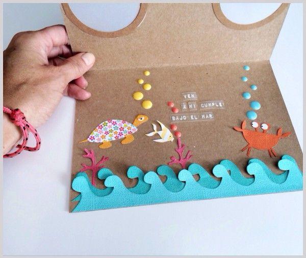 Invitaciones de cumpleaños submarinas 5