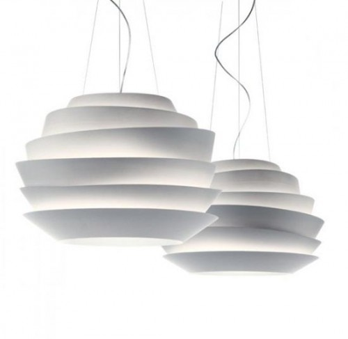 Le Soleil - Stylish and Contemporary Suspension Lamps by Foscarini | White Lamp