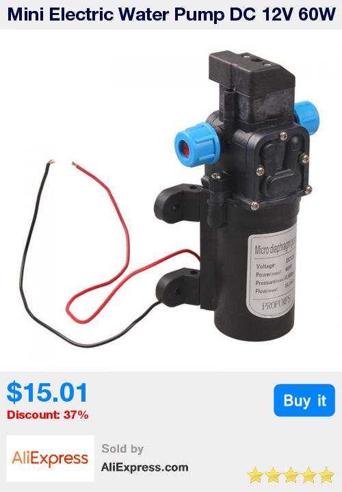 Mini Electric Water Pump DC 12V 60W High Pressure Micro Diaphragm Water Pump Automatic Switch 5L/min ntelligent  FULI * Pub Date: 00:16 Jul 9 2017