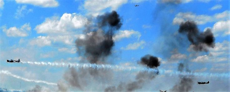 2016 airshow: pearl Harbor re-enactment. the Japanese leave