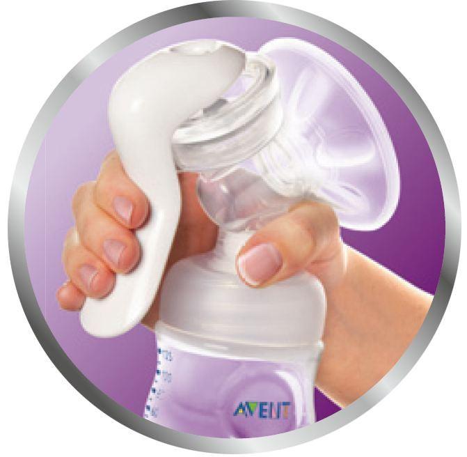 Philips Avent SCF330/20 Komfort-Milchpumpe mit Naturnah-Flasche Polypropylen, 125 ml