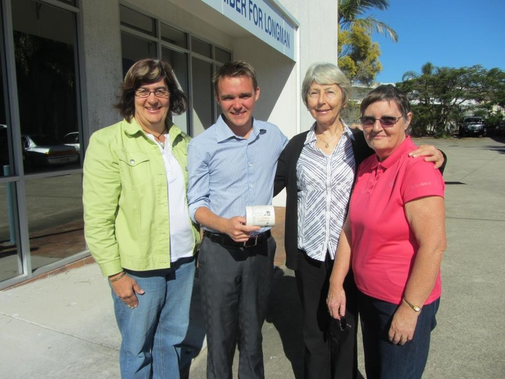 Wyatt Roy - Federal Member of Parliament for Longman, QLD with local consituents