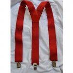 Подтяжки мужские красные 3.5 см Y #подтяжки #suspenders