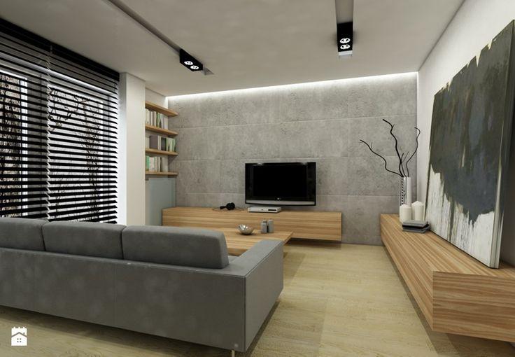 Projekt mieszkania I - Salon, styl nowoczesny - zdjęcie od Premiere Design